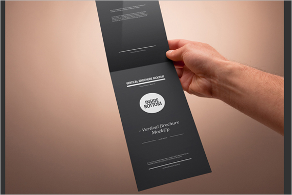 Vertical Brochure Mockup Example