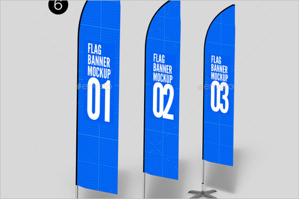 Vertical Flag Mockup