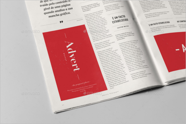 Vertical Newspaper Mockup