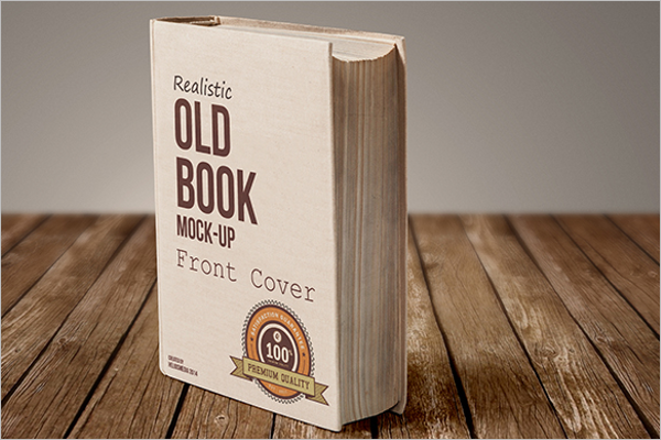 Vintage Book Mockup Free Download