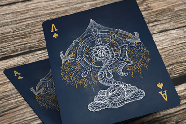Vintage Playing Card Mockup