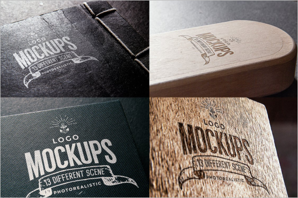 Vintage Wood Log Mockup Template