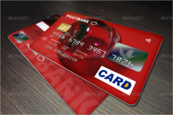 Visa Credit Card Mockup