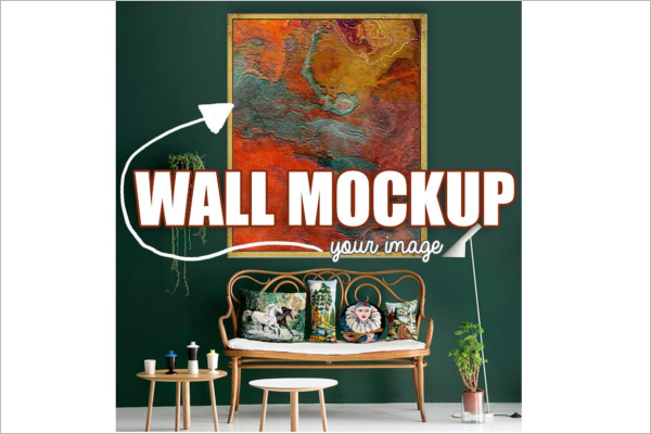 Wall Art Mockup PSD Template