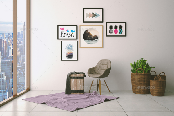 Wall Art Pictures Mockup