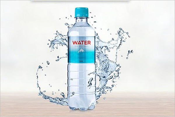 Water Bottle Mockup Design