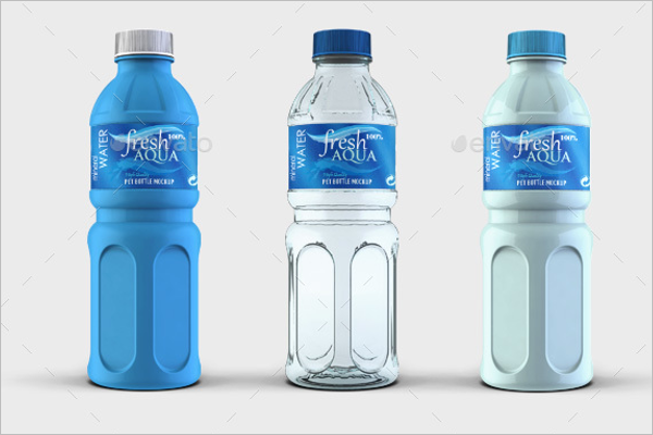Water Bottle Mockup Template