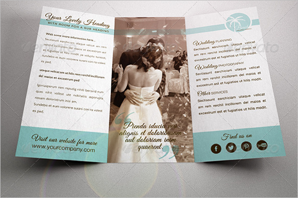 Wedding A4 Brochure Template