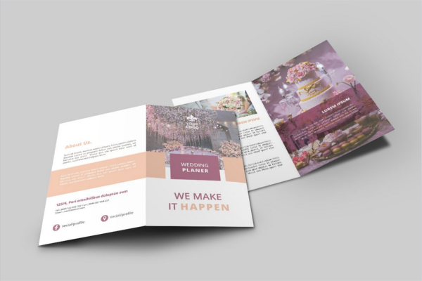 Wedding Bifold Brochure Design