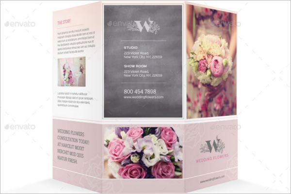 Wedding Flowers Brochure Design