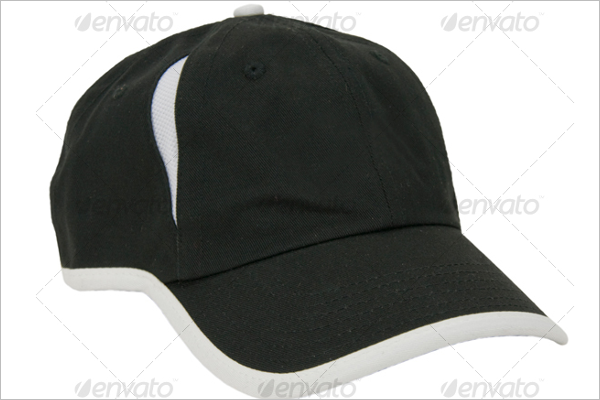 White & Black Cap Mockup Design