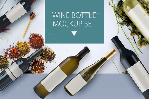 Wine Botttle Mockup Set