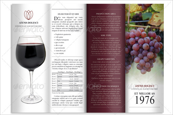 Wine Brochure Design