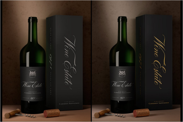 Wine Package Mockup Design
