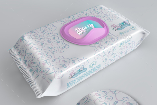 Wipes Packing Mockup Design