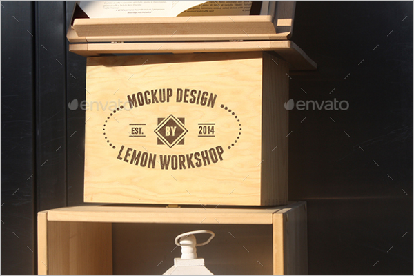 Wood Box Mockup Template