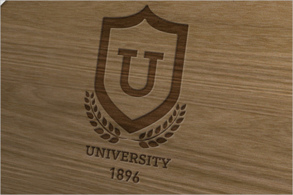 Wood Logo Mockup Sample