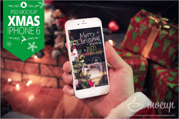 Xmas Wallpaper iPhone Screen Mockup