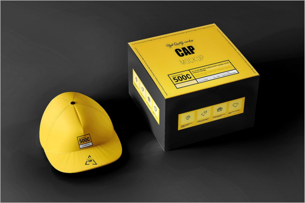 Yellow Cap Mockup Design