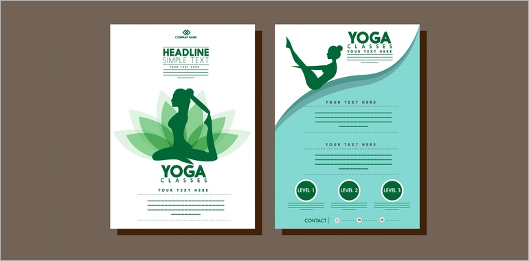 Yoga Brochure Templates