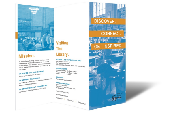 Z-Fold Library Brochure Design