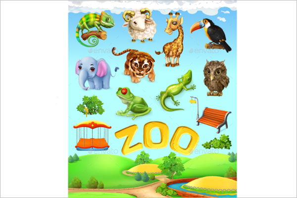 Zoo Brochure Vector