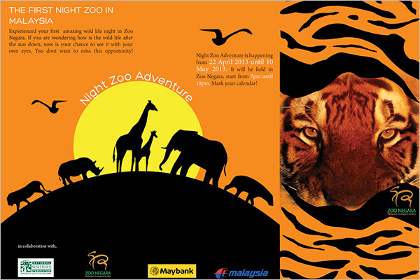 Zoo Ticket Brochure Design
