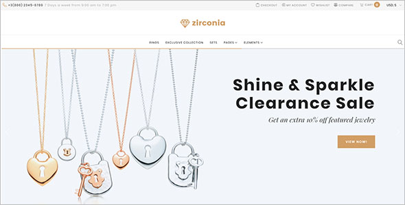 Best Jewelry Shop Website Themes
