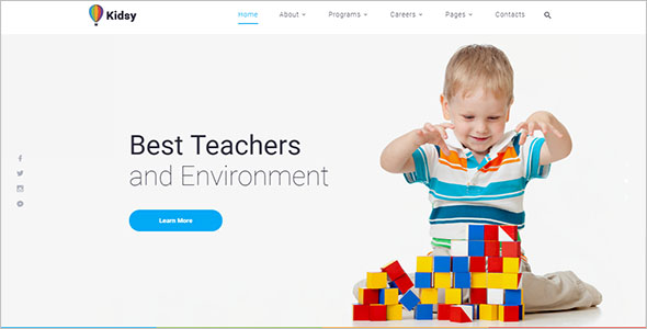 Best children website template