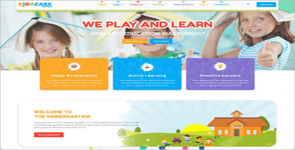 Children Care WordPress Template