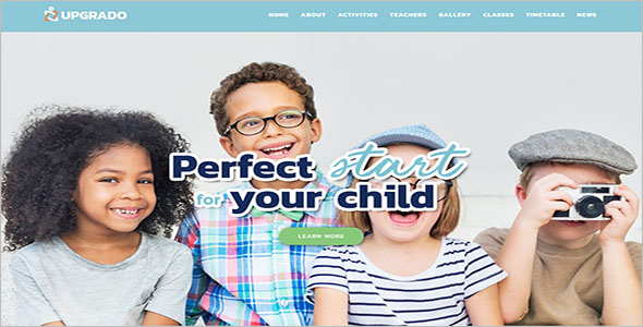 Free Children WordPress Theme