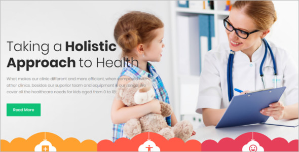 Kids Health Website Theme