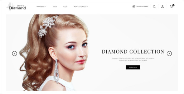New Jewelry Website Design