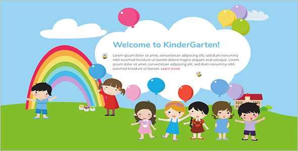 Playing Kids Design Template